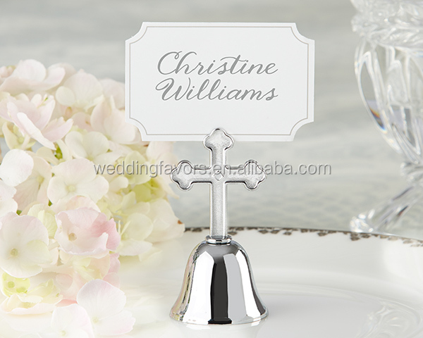 Heavenly Religious Cross Wedding Kissing Bells
