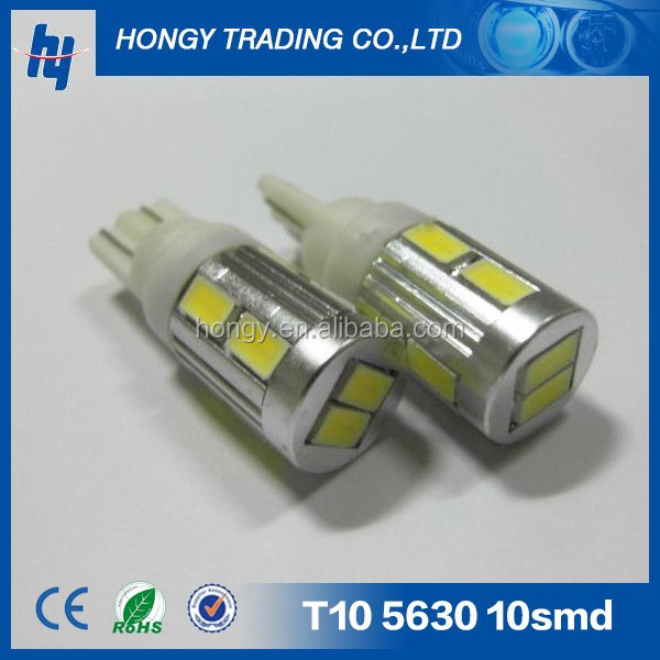 5w T10 Car LED Interior Light 158 W5W led indicate car bulb T10 10SMD 5630