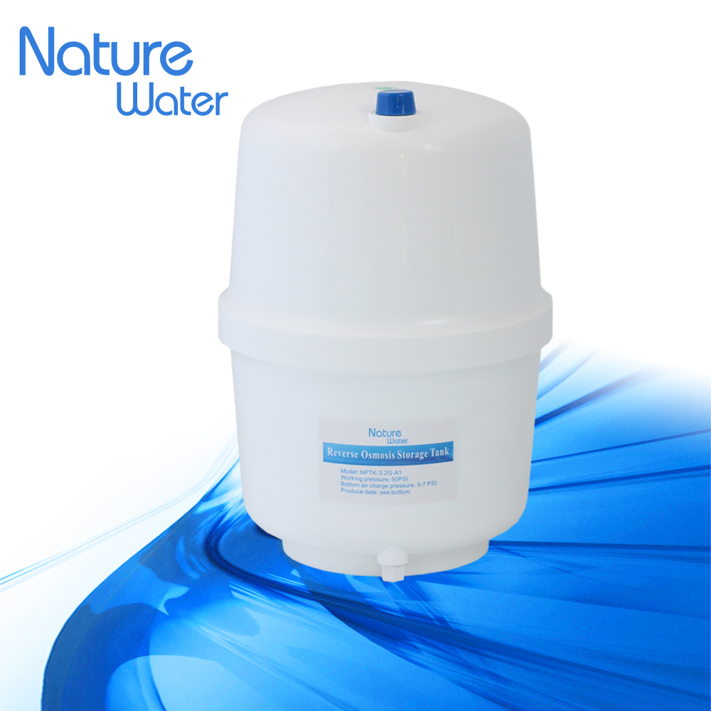 white color plastic 3.5G storage tank with top inlet & outlet