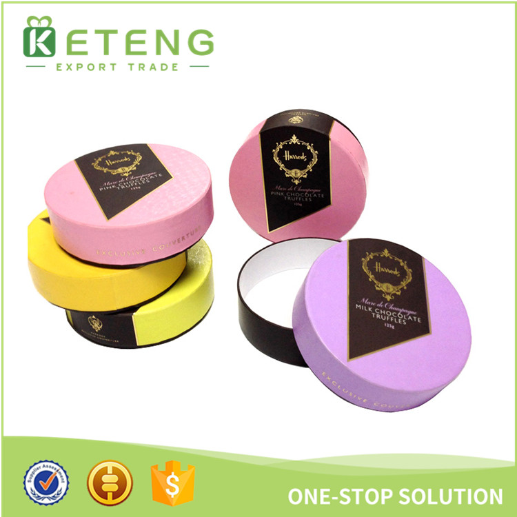 Round tube candy favor box cylindrical gift box