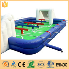 inflatable human foosball court inflatable human football field sport games