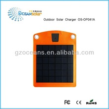 Good quality and best price outdoor solar charger portable waterproof high efficient solar panel charge mobile phone OS-OP041A
