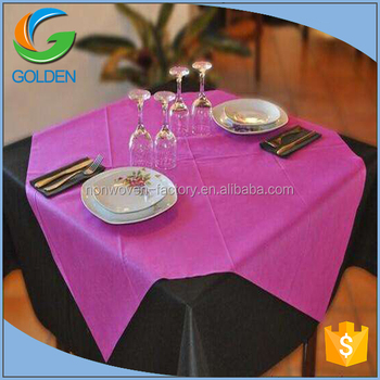 pp nonwoven fabric table cloth single use degradable