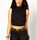 Ladies turtleneck design statement zip polo neck crop tops