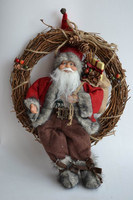 Artificial Christmas Decorations Wreath with Santa Claus