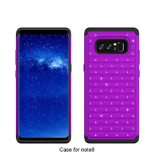 Bling diamonds silicone mobile phone cover case for Samsung Galaxy Note 8