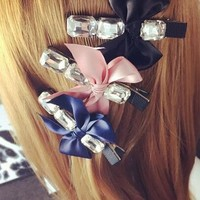 girls decorative hair pin fancy types of hair pins bow crown hair pin for girls 2015 new
