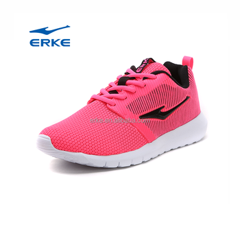 wholesale price 2017 summer breathable EREK brand fly knitted sports running shoes womens