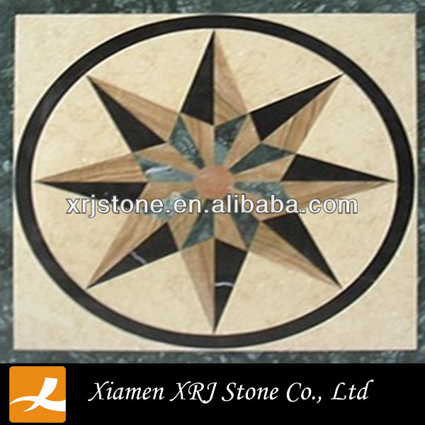water jet marble pattern paving stone