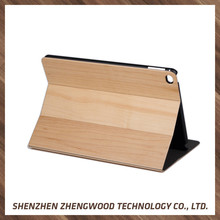 Leather bamboo phone cases wood book mobile accessories cases latest design cushion cover for iPad Mini