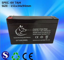 Lead Acid Free Maintenance 6v 7ah Rechargeable Batteries Make in China