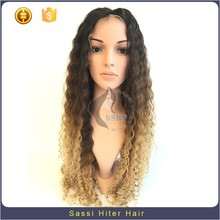 Natural Looking Brazilian Hair Ombre Color Full Lace Wig