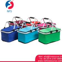 Good Quality 600D Oford Cloth 32ML Wholesale Lunch Picnic Cooler Foldable Bag