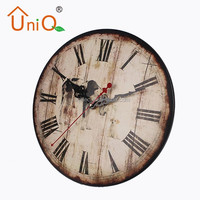 M1205 antique style wall clock for home decoration in kids room