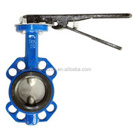 LEVER & HAND WHEEL(GEAR BOX) OPERATION BUTTERFLY VALVE DN200