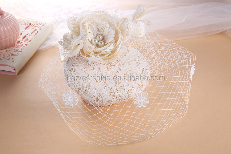 Beautiful White Accessories New Design Wedding Hats for Bride