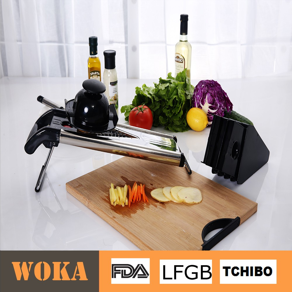 Multi Blade Magic Kitchen V Blade Vegetable Slicer And Stainless Steel Mandoline