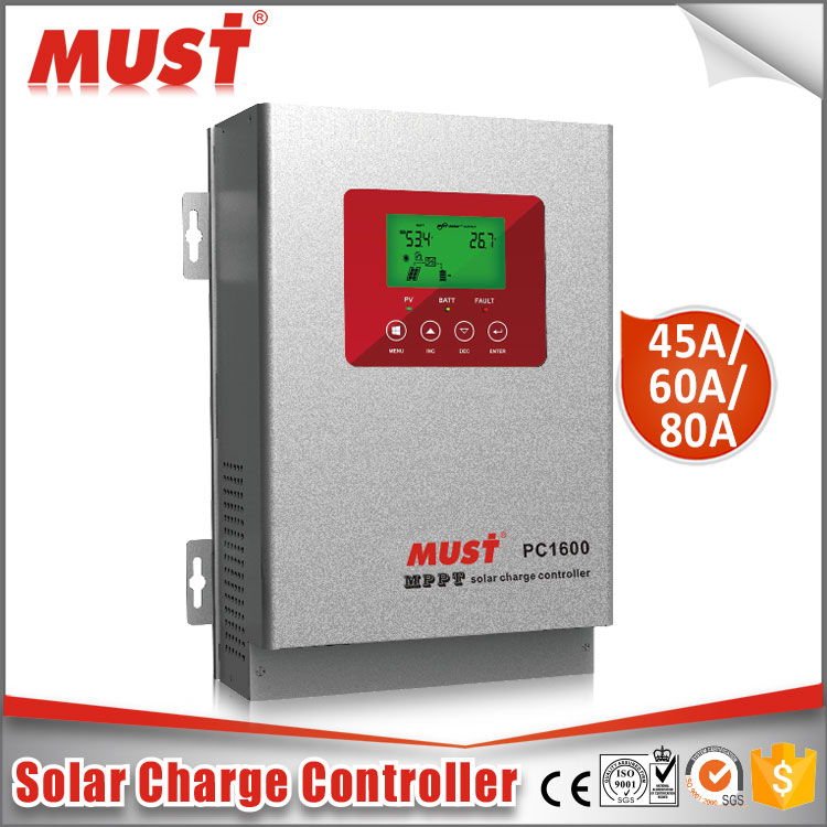 MUST brand 12/24V/36V/48V high efficiency MPPT 20A-60A solar controller