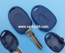 Good price Car key Fiat 1 button remote key shell blank keys cover case in blue