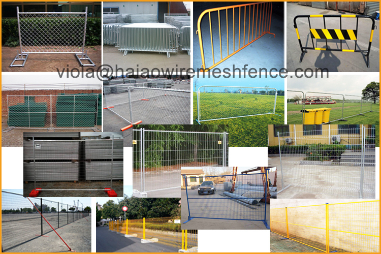 Quick and easy to install pvc coated and removable construction security Canada temporary fence