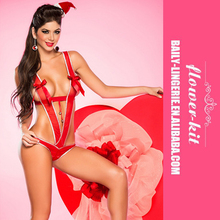 Wholesale teddy red sexy lingerie for women
