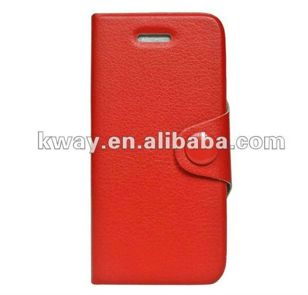 Flip leather case For iPhone5 iPhone 5 5G Flip leather case cover with stand KSH066