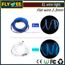 Flexible neon light glow EL wire rope car cable strip insulated flat wire 1.4 2.3 3.2 4.0mm size