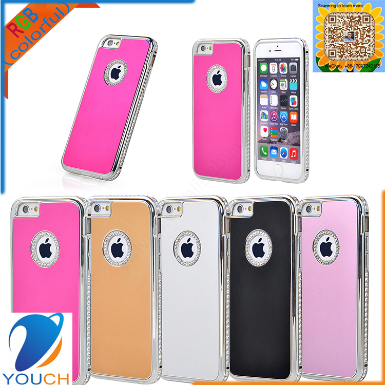 Luxury handwork diamond hard plastic smart mobile cover for iPhone 6 6s 6 plus 6s plus