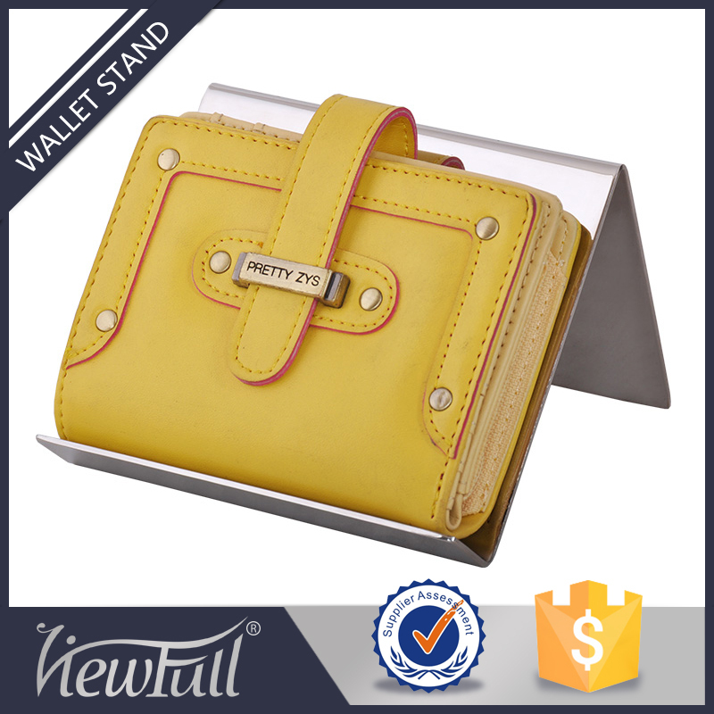 Fashion retail metal wallet display for wholesales