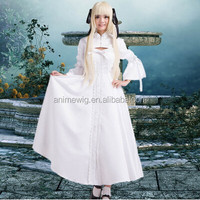 High Quality Kasugano Sora White Cosplay Costume Sexy Dress Anime cosplay Costumes Lolita Dress uniforms Halloween Costumes