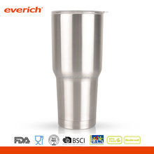 30oz Vacuum Insulated stainless steel silver color 30oz Beer Cup With tritan cap