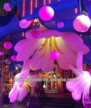 2013 newest wedding stage flower giant inflatable flowers decoration with led lighting