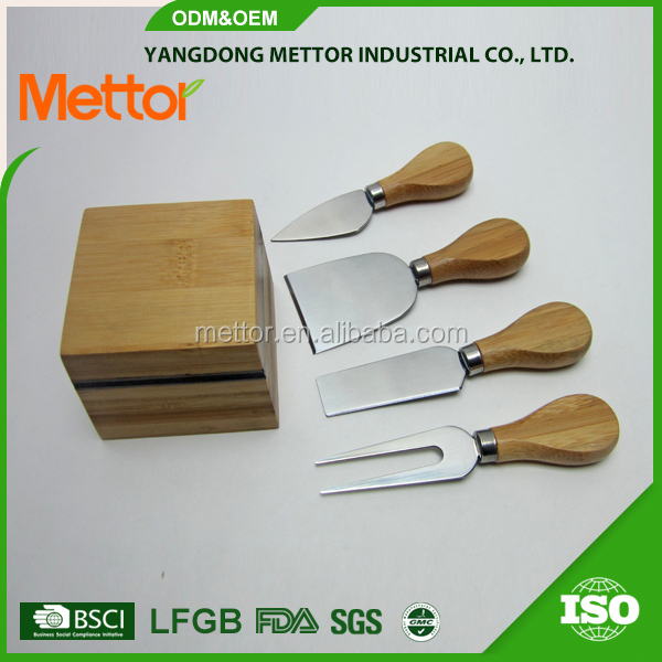 High quality and unique s/s , magnetic stripe , bamboo kitchenware wholesale