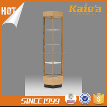 Factory price wholesale jewelery glass display case with light
