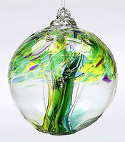 High quality Hand Made Polish Art Glass Witch Ball,Glass Tree Of Life Witch Ball