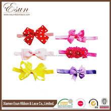 Chiffon Flower and Bow Baby Girl Headbands