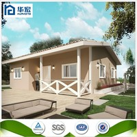 Good quality two bedrooms easy to assembled solar prefab house