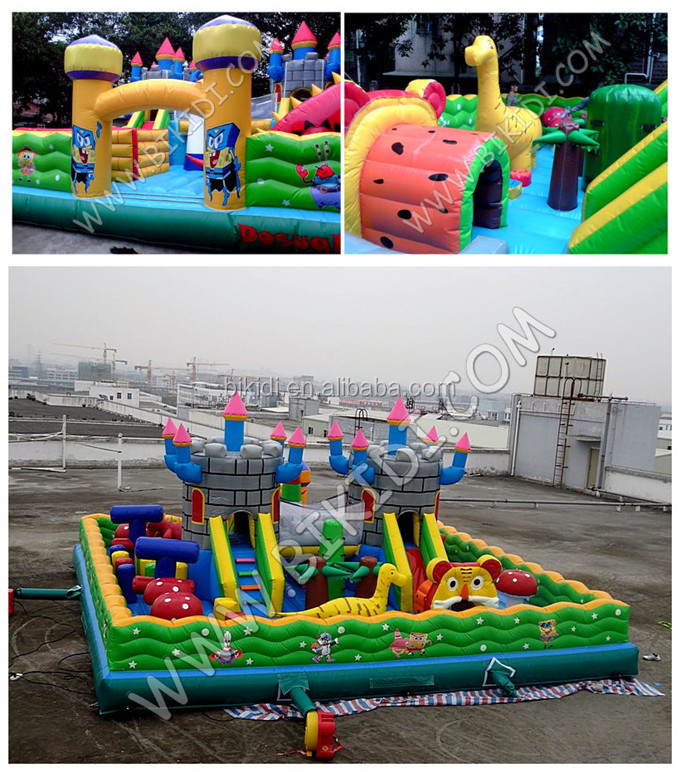 Hot sale good quality inflatable fun city ,inflatable playground on sale B5033