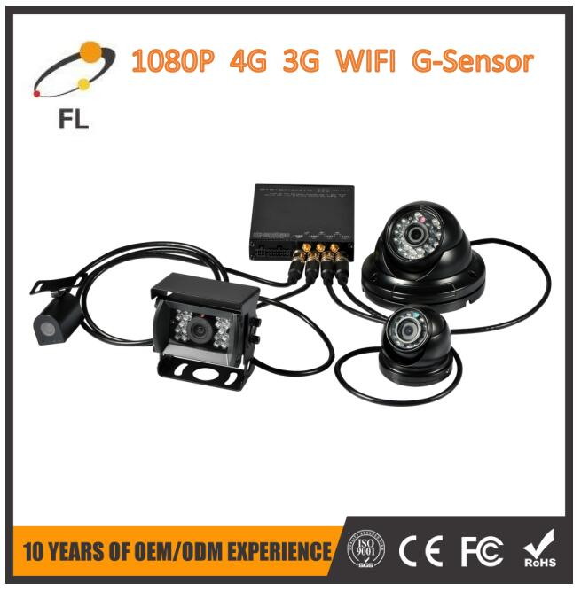 4 channels high definition Small 1080P SD Card 8 channel mobile dvr 3g gps wifi support GPS+G-sensor