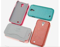 Wallet PU + Microfiber Leather Case Cover For Samsung Galaxy S4 S IV GT-I9500 Flip Cover With Retail Package