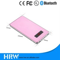 Promotional customised screen mobile charger 12000 smart mobile phone power bank c