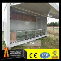20ft folding prebuilt steel container houses prefabricated expandable shelter for sale in china