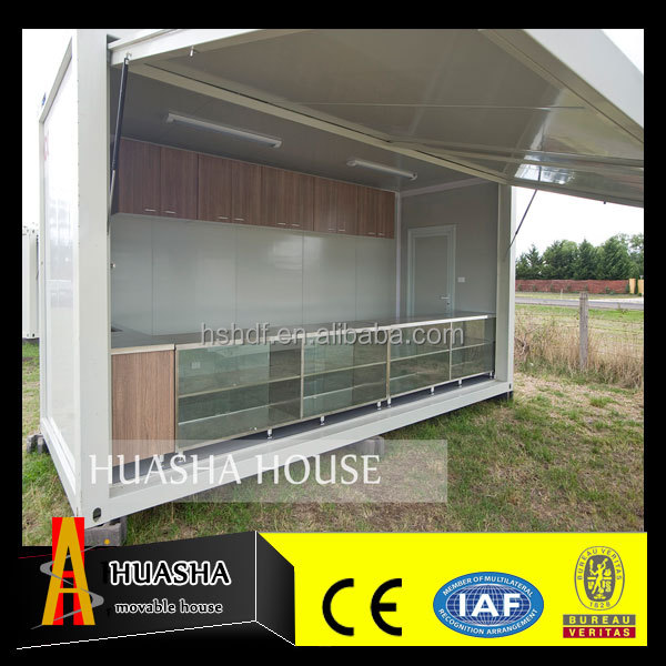 20ft folding prebuilt steel container prefabricated expandable coffee bar
