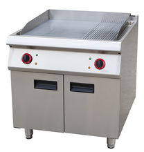 Hotel Equipment Commercial 2/3 Grill Hot Plate And 1/3 Grooved Electric Griddle