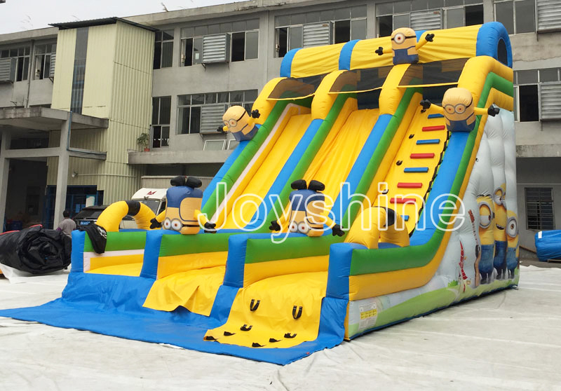 Kids Children Outdoor Inflatable Minion Dry Slide Bouncer Large Birthday Party Used Commercial Inflatable Slides For Sale