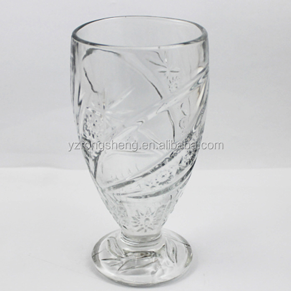 popular high-white clear glass tall juice cup