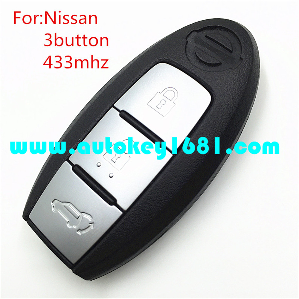 MS car smart key 3 button replacement keyless entry remote control 433mhz for nissa x-trail