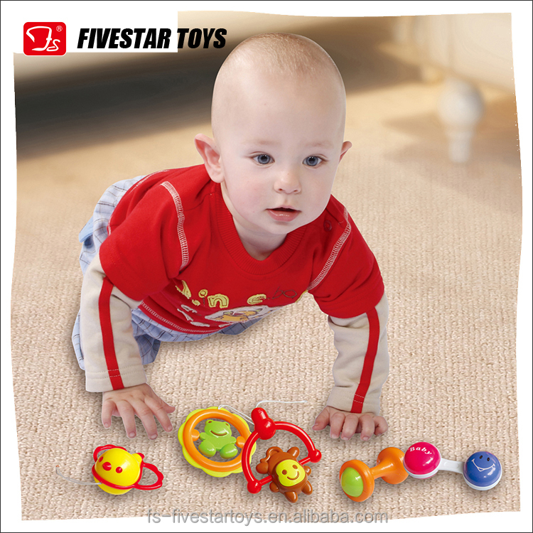 Plastic Noise Maker Musical Infant Hand Shaking Toys Baby Teether Toy