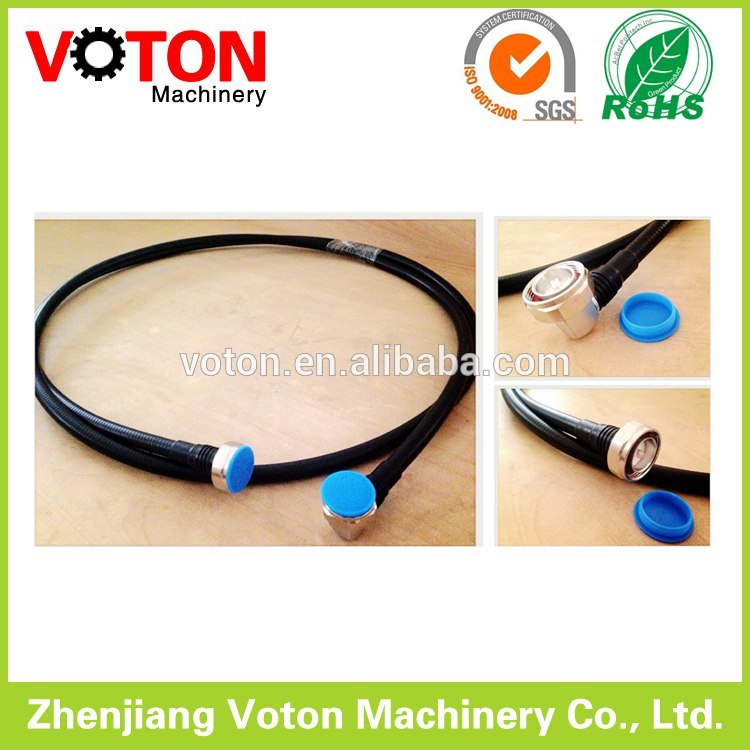 "China supplier Jumper 1/2"" superflex Cable , 7/16 Din Male Straight to 7/16 Din Male Right angle connector"