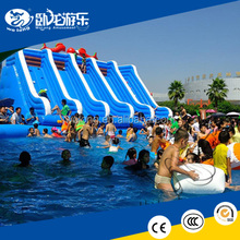 inflatable comercial used water park slide